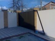 Откатные и распашные автоматические ворота калитки забор из профнастил