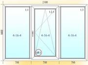 Окна металлопластиковые 2100х1400