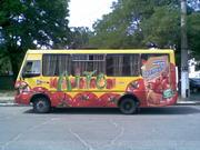 реклама на городских маршрутных такси г. Херсона.
