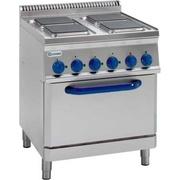 Продам бу электрическую плиту с духовкой Tecnoinox PFS70E7