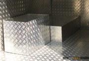 рифленый лист алюминиевый (квинтет) марки АД0 толщина от 1мм