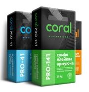 Сухие строительные смеси Coral,  Sticker.